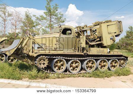 VOLZHSKY RUSSIA - July 30 2016: Special saving automotive equipment city of Volzhsky Russia