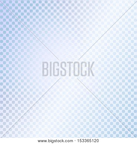 Small checkered light blue background. Halftone vector background