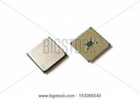 Cpu, Processor. Computer Central Processor Unit On White Background