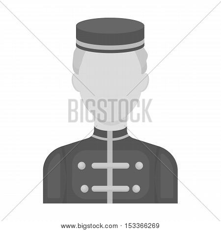 Bellboy icon in monochrome style isolated on white background. Hotel symbol vector illustration.