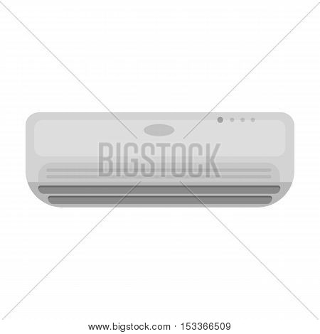 Air conditioner icon in monochrome style isolated on white background. Hotel symbol vector illustration.