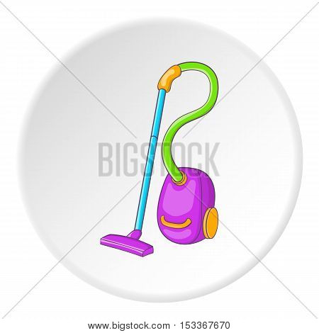 Vacuum cleaner icon. Cartoon illustration of vacuum cleaner vector icon for web
