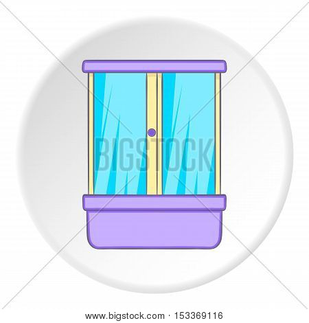 Shower cabin icon. Cartoon illustration of shower cabin vector icon for web