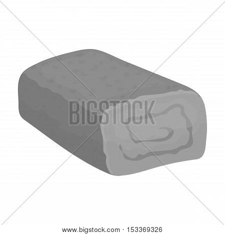 Meatloaf icon in monochrome style isolated on white background. Meats symbol vector illustration