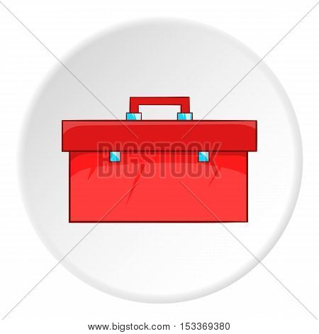 Red case plumber icon. Cartoon illustration of red case plumber vector icon for web