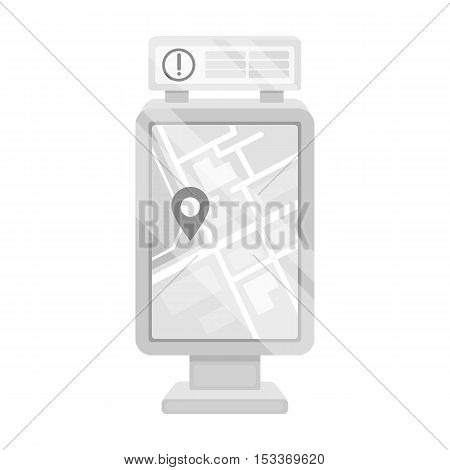 Information board icon in monochrome style isolated on white background. Park symbol vector illustration.