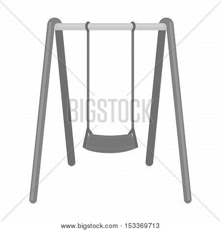 Swing seat icon in monochrome style isolated on white background. Park symbol vector illustration.