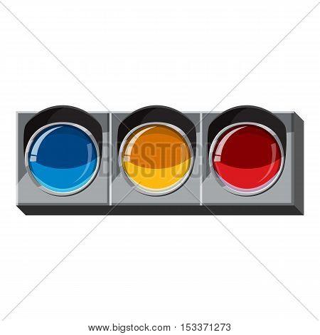 Sport traffic light icon. Isometric 3d illustration of sport traffic light vector icon for web
