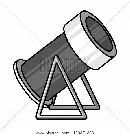 Snow cannon icon in monochrome style isolated on white background. Ski resort symbol stock vector illustration.