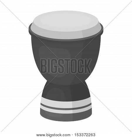 Goblet drum icon in monochrome style isolated on white background. Turkey symbol vector illustration.