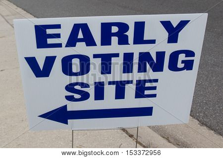 An Early Voting Site Sign