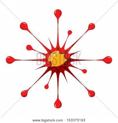 Virus or bacteria icon. Isometric 3d illustration of virus or bacteria vector icon for web