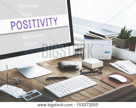 Positivity Simplify Attitude Motivation Concept
