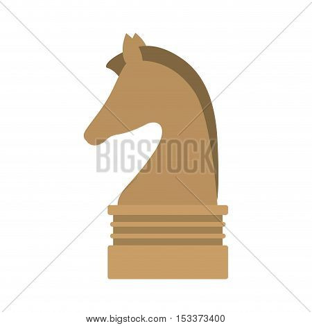 knight chess game piece icon over white background. strategy gaming design. vector illustration