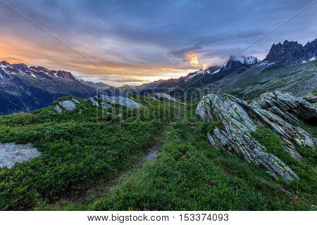 view from Aiguille du Midi. Mont Blanc France