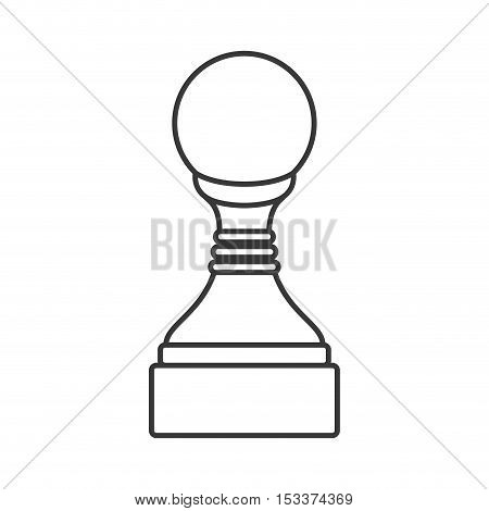 pawn chess game piece icon over white background. strategy gaming design. vector illustration
