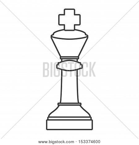 king chess game piece icon over white background. strategy gaming design. vector illustration