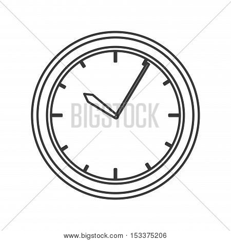 watch time device icon over white background. vector illustration
