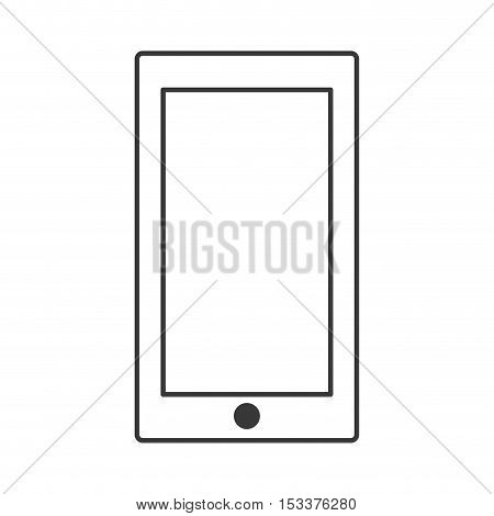 silhouette of smartphone portable device icon over white background. vector illustration