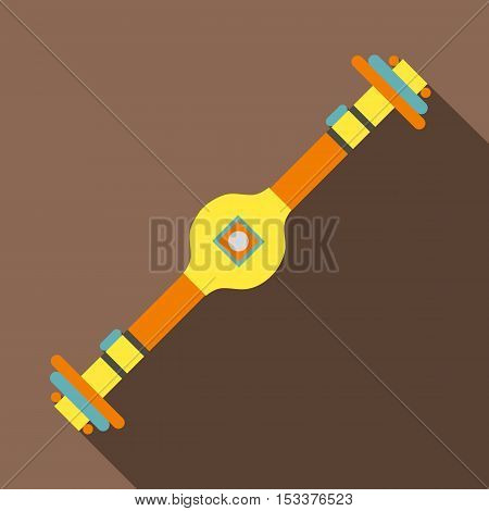Rear axle icon. Flat illustration of rear axle vector icon for web isolated on coffee background