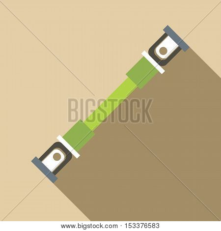 Safety seatbelt icon. Flat illustration of safety seatbelt vector icon for web isolated on beige background