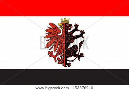 Flag of Kuyavian-Pomeranian Voivodeship or Kujawy-Pomerania Province in Poland