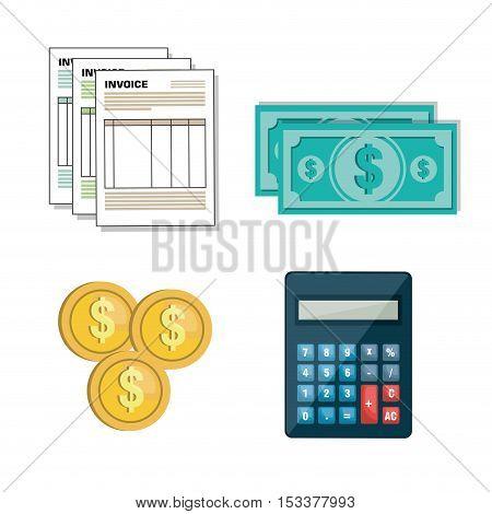 set icon invoice form design vector illustration eps 10