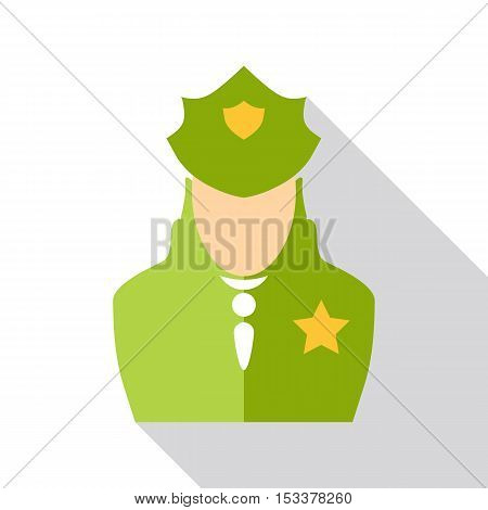 Police officer icon. Flat illustration of police officer vector icon for web isolated on white background