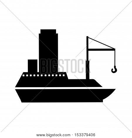 boat or ship pictogram icon image vector illustration