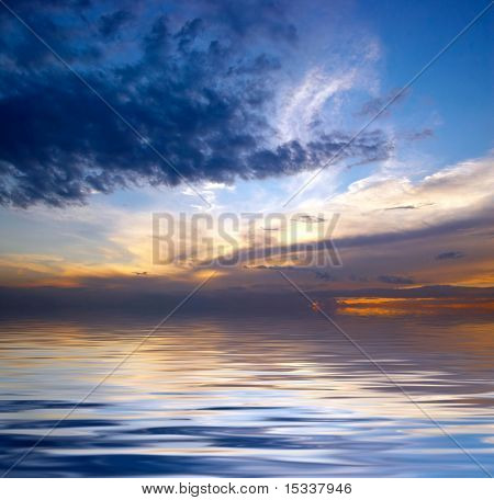 Dramatic sky over water