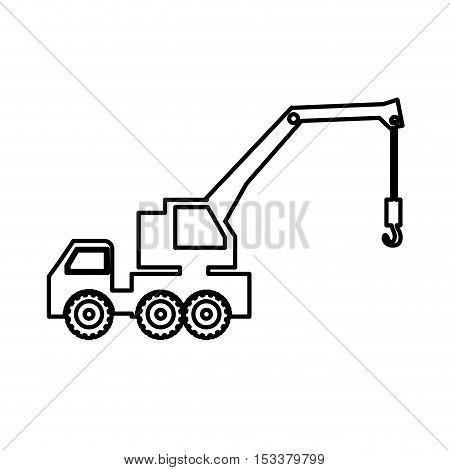 crane truck pictogram icon image vector illustration design