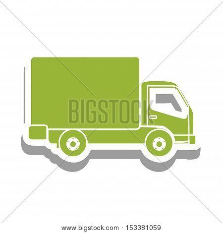 delivery truck pictogram icon image vector illustration design