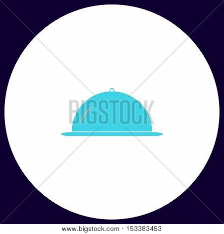 cloche Simple vector button. Illustration symbol. Color flat icon