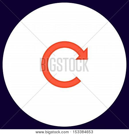 Rotation Arrow Simple vector button. Illustration symbol. Color flat icon