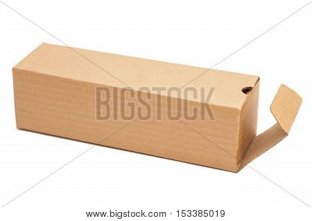 Open Cardboard Box Isolated On A White Background