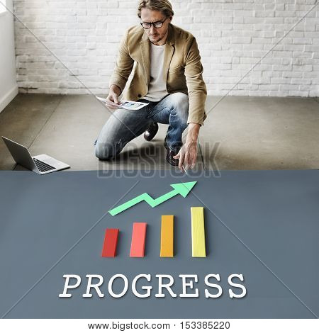 Finance Economic Progress Analysis Concept