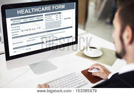 Healthcare Form Medical Application Concept