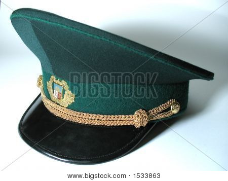 The Official Latvian Border Guard`S Officer Service Cap.