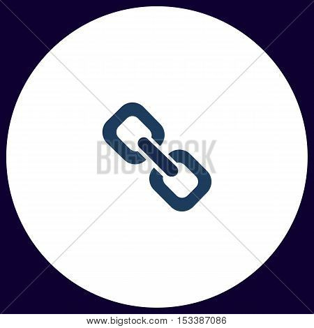 Link Simple vector button. Illustration symbol. Color flat icon