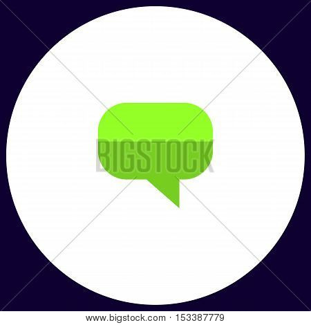 Quote Simple vector button. Illustration symbol. Color flat icon