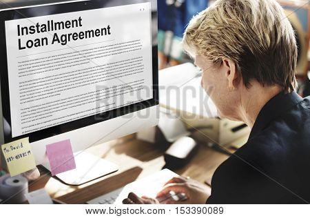 Installment Loan Agreement Credit FInance Debt Concept