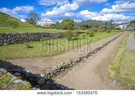 Ruins of the ancient city of Pumapungo, in Cuenca Ecuador