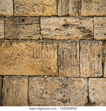 Old stone wall. It can be used as a background