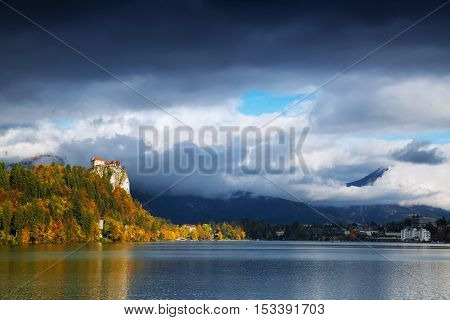 Bled Lake With Old Castle, Slovenia, Europe