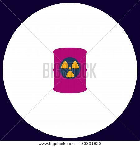 Radioactive waste Simple vector button. Illustration symbol. Color flat icon