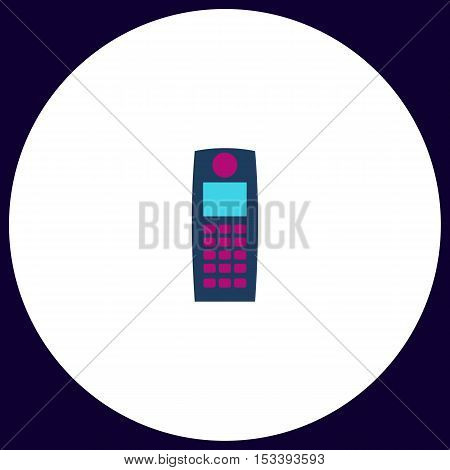walkie talkie Simple vector button. Illustration symbol. Color flat icon