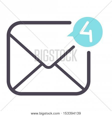 Mail icon vector symbol