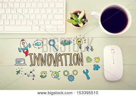 Innovation Concept With Workstation