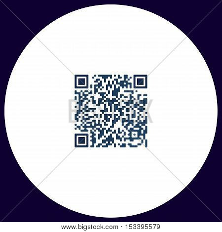 Qr code Simple vector button. Illustration symbol. Color flat icon