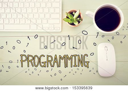 Programming Concept With Workstation
